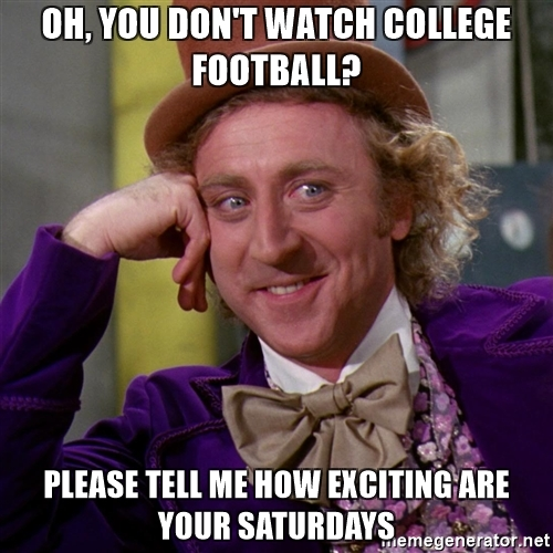 oh you dont watch college football please tell me how exciting are your saturdays week three college football preview nobodysports
